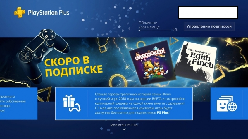 Утечка: в мае подписчики PS Plus получат What Remains of Edith Finch и Overcooked