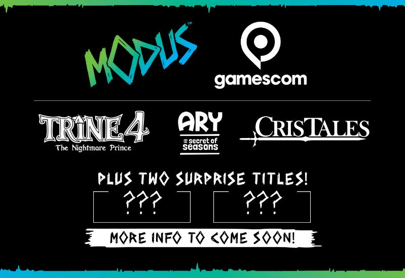 Modus Games привезёт на gamescom 2019 Trine 4, Cris Tales и Ary and the Secret of Seasons